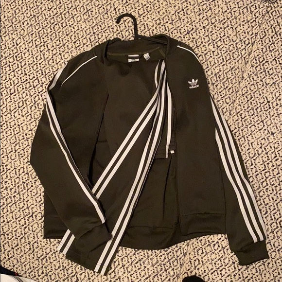 Olive green adidas tracksuit